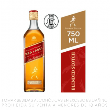Whisky JW Red Label x 750 ml