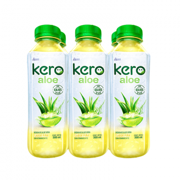 Six Pack Kero Aloe Piña 300 ml
