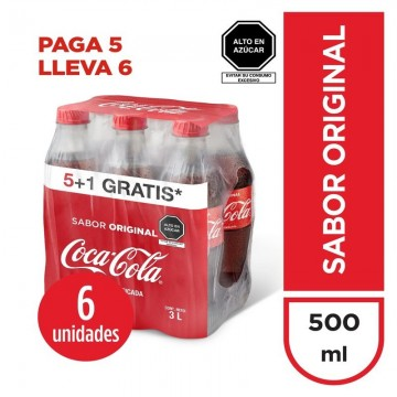 Gaseosa Coca Cola Six Pack...