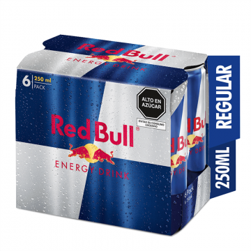 Red Bull Pack de 6 lata x...