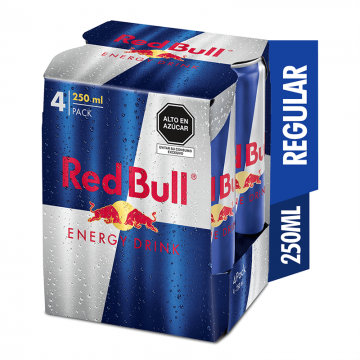 Red Bull Pack de 4 lata x...